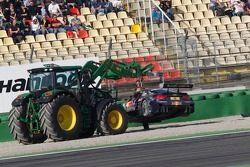 Miguel Molina, Audi Sport Team Phoenix Racing Audi A5 DTM, out of Race