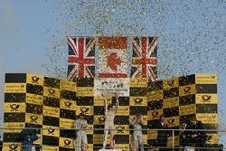 2012 championship podium, 2nd Gary Paffett, Team HWA AMG Mercedes, AMG Mercedes C-Coupe, 1st Bruno S
