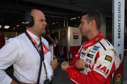 Andrea Adamo, Chief Designer, Honda Racing Team Jas and Tiago Monteiro, Honda Civic Super