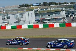 Tom Coronel, BMW 320 TC, ROAL Motorsport en Alberto Cerqui, BMW 320 TC, ROAL Motorsport