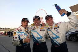 2nd position Yvan Muller, Chevrolet Cruze 1.6T, Chevrolet, Alain Menu, Chevrolet Cruze 1.6T, Chevrolet pole position and 3rd position Robert Huff, Chevrolet Cruze 1.6T, Chevrolet