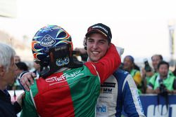 Stefano D'Aste, BMW 320 TC, Wiechers-Sport race winner and 2nd position Pepe Oriola, SEAT Leon WTCC,