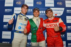 Press conference, Pepe Oriola, BMW 320 TC, Wiechers-Sport and Gabriele Tarquini, SEAT Leon WTCC, Luk