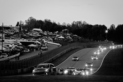 Safety car leads the field under a full course yellow