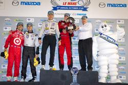 Michelin Green X award: prototype winners Scott Tucker, Dario Franchitti, Marino Franchitti