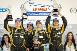 P1 podium: class and overall winners Andrea Belicchi, Neel Jani, Nicolas Prost