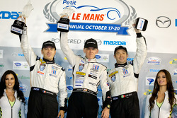 P2 podium: class winners Scott Tucker, Christophe Bouchut, Luis Diaz