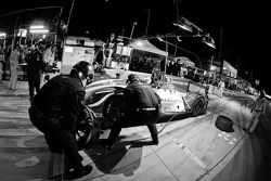 Pit stop for #37 Conquest Endurance Morgan Nissan: Martin Plowman, David Heinemeier Hansson, Eric Lu
