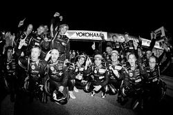 P1 and overall winners Neel Jani, Andrea Belicchi and Nicolas Prost celebrate with Rebellion Racing