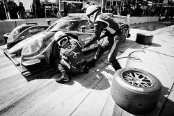 Pit stop for #12 Rebellion Racing Lola B12/60 Toyota: Andrea Belicchi, Neel Jani, Nicolas Prost