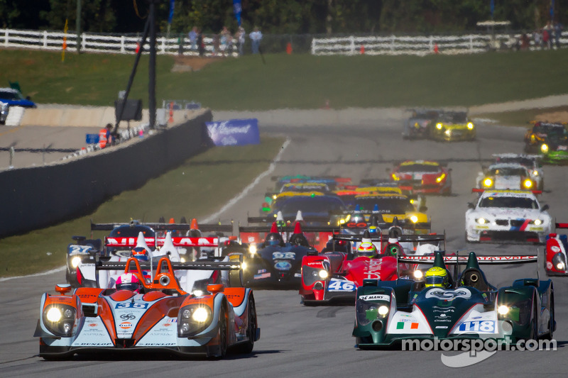 Start: #35 Oak Racing Morgan Nissan: Jacques Nicolet, Bertrand Baguette, Olivier Pla and #118 Murphy Prototypes Oreca Nissan: Brendon Hartley, Warren Hughes, Jody Firth
