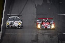#25 Dempsey Racing Oreca FLM09: Henri Richard, Duncan Ende, Ryan Lewis, #22 Alex Job Racing Porsche 911 GT3 Cup: Cooper MacNeil, Leh Keen, Dion von Moltke
