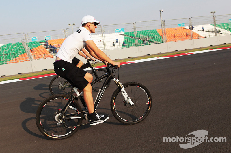 Michael Schumacher, Mercedes AMG F1 rides the circuit