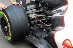 Sauber C31 exhaust ve rear suspension detay