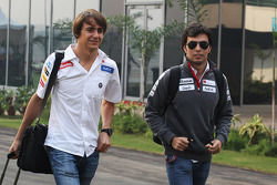 Esteban Gutierrez, Sauber Third Driver, who is replacing the 'unwell' Sergio Perez, Sauber in the first practice session