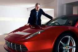 Eric Clapton with the Ferrari SP12 EC