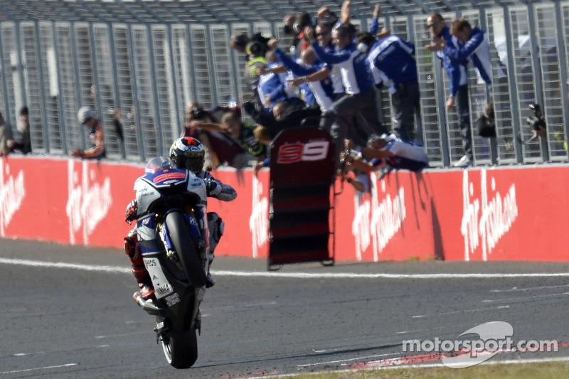 Jorge Lorenzo, Yamaha Factory Racing aan de finish met overwinning