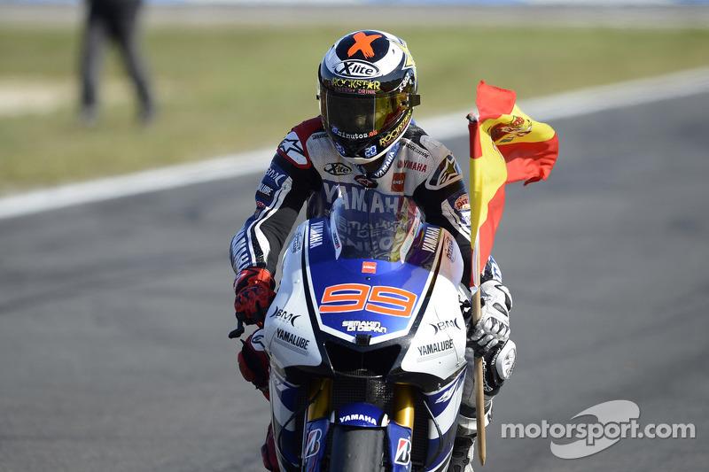 Campeón 2012 Jorge Lorenzo, Yamaha Factory Racing celebra