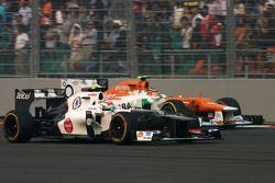 Sergio Perez, Sauber F1 Team ve Nico Hulkenberg, Sahara Force India Formula 1 Team