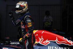 Première place pour Sebastian Vettel, Red Bull Racing