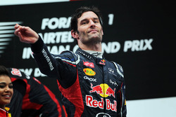 Mark Webber, Red Bull Racing festeja en el podio