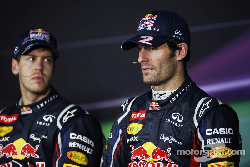 Sebastian Vettel, Red Bull Racing en Mark Webber, Red Bull Racing in de FIA persconferentie