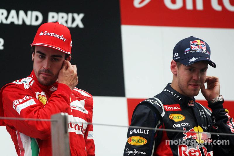 85- Fernando Alonso, 2º en el GP de India 2012 con Ferrari