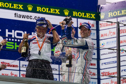Podium: race winner Alexander Wurz
