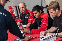 JRM Drivers from left to right: David Brabham, Karun Chandhok, Peter Dumbreck