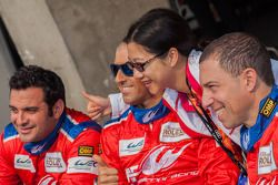 AF Corse-Waltrip drivers Robert Kauffman, Rui Aguas and Marco Cioci