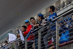 Spectators at Shanghai circuit