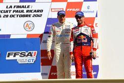 Podium: third place Gilles Vannelet and Sébastien Loeb