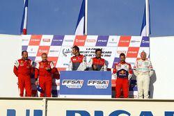 Podium: race winners David Hallyday, Stéphane Ortelli, second place Eric Debard, Olivier Panis, third place Sébastien Loeb, Gilles Vannelet
