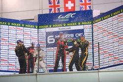LMP1 private teams podium: winner Andrea Belicchi, Harold Primat, Cong Fu Chen, second place David B