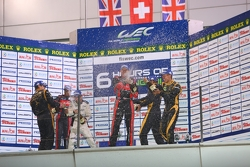 LMP1 private teams podium: winner Andrea Belicchi, Harold Primat, Cong Fu Chen, second place David Brabham, Karun Chandhok, Peter Dumbreck, third place Nick Leventis, Danny Watts, Jonny Kane