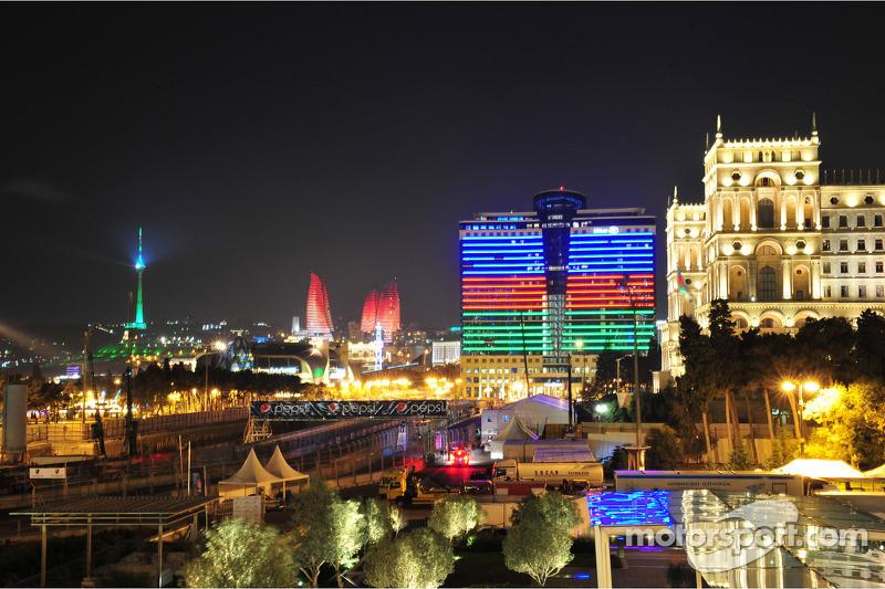 Vista de Bakú