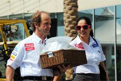 Joseph Lieberer, Sauber Physio with Monisha Kaltenborn, Sauber Team Principal