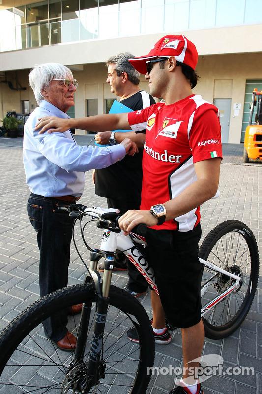 Felipe Massa, Ferrari with Bernie Ecclestone, CEO Formula One Group