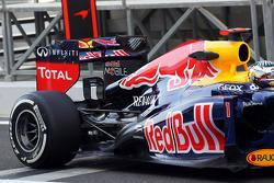 Sebastian Vettel, Red Bull Racing rear wing and rear suspension detail