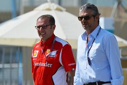Stefano Domenicali, Ferrari General Director with Maurizio Arrivabene, Marlboro Europe Brand Manager
