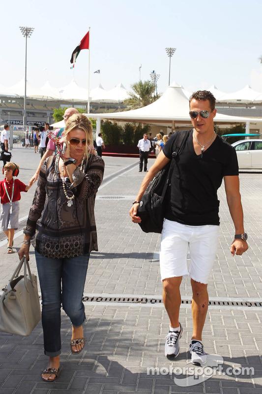 Michael Schumacher, Mercedes AMG F1 con su esposa Corinna Schumacher