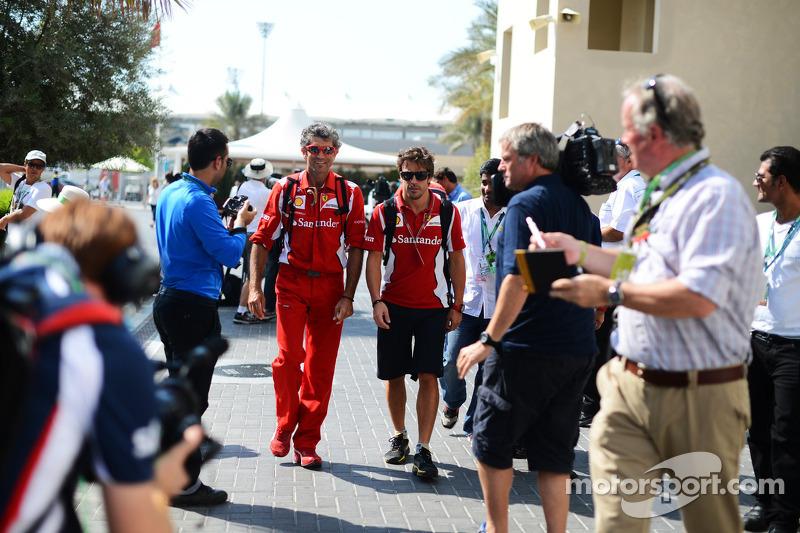 Фернандо Алонсо. ГП Абу-Даби, Воскресенье, перед гонкой.