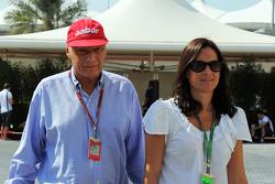 Niki Lauda, met vrouw Birgit Wetzinger