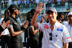 Kamui Kobayashi, Sauber en el desfile de pilotos