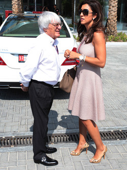 Bernie Ecclestone y su promertida Fabiana Flosi