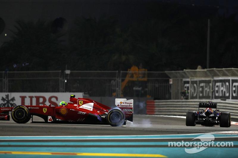 …и на этот раз – урок от Мальдонадо не пропал даром – смог после контакта продолжить гонку, удаляясь от закрутившегося на трассе соперника