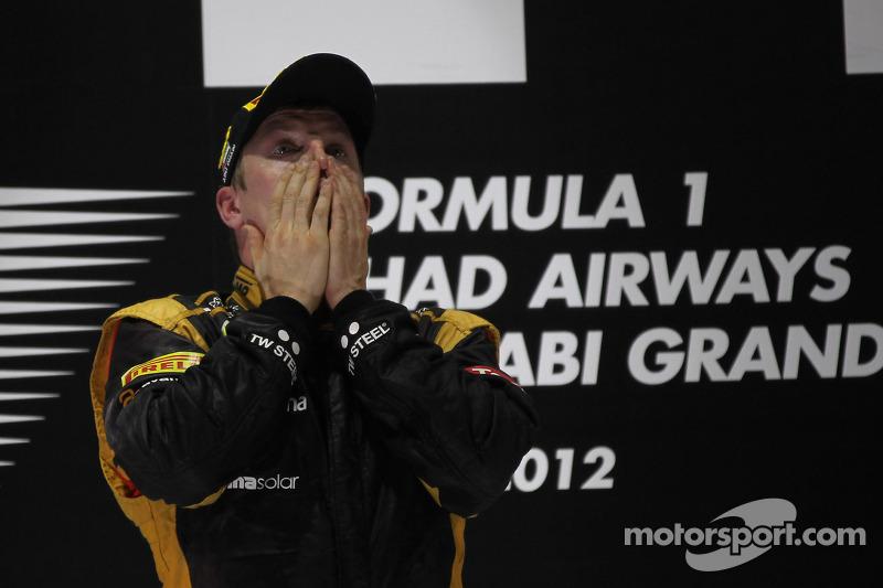 Primer lugar, Kimi Raikkonen, Lotus Renault F1 Team