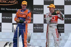 Podium: race winner Jamie Whincup, second place Will Davison