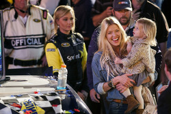 Victory lane: Jimmie Johnson's family celebrates