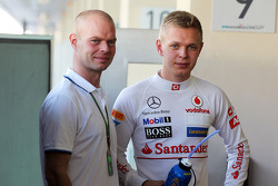 Jan Magnussen, with his son Kevin Magnussen, McLaren Test Driver